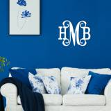 Wood Classic Vine Monogram To Paint Yourself