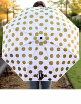 Monogrammed Umbrella With Gold Dots