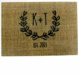 Personalized Burlap Glass Cutting Board  . . .