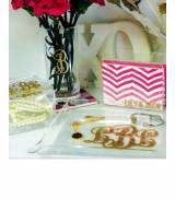 Monogrammed Acrylic Fluted Corner Serving  . . .