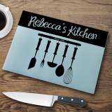 Personalized Glass Cutting Board Utensils