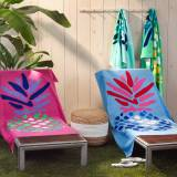 Matouk Pineapple Cotton Velour Beach Towel