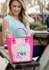 Monogrammed Cooler Tote Greek Sorority In  . . .