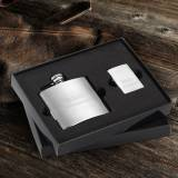Personalized Brushed Finish Flask And  . . .