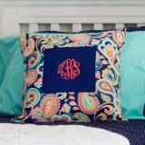 Monogrammed Pillow Cover  Emerson Paisley