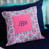 Monogrammed Throw Pillow Cover Mia Tile  . . .