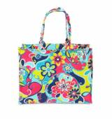 Monogrammed Tote Canvas Bag In Whimsical  . . .