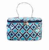 Monogrammed Train Case In Turquoise And  . . .