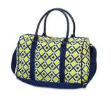 Monogrammed EVA Duffel In Navy And Lime  . . .