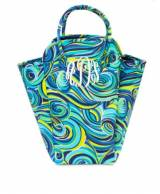 Monogrammed EVA Tote For Laundry Swirled  . . .