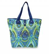 Monogrammed Tote In Moroccan Pattern