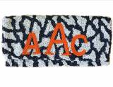 Beaded Giraffe Print Monogram Clutch