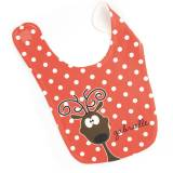 Personalized Reindeer Baby Bib For Girls