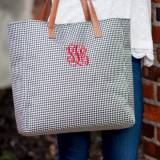 Monogrammed Houndstooth Everything Tote