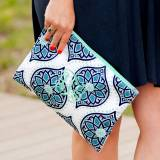 Monogrammed Boho Zip Pouch