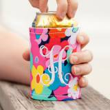 Personalized Drink Wrap Koozie Poppy Floral