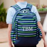 Personalized Shoreline Stripe Backpack