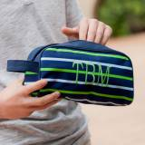 Personalized Shoreline Stripe Toiletry Or  . . .