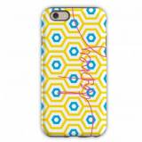 Monogrammed IPhone Case Happy Hexagon