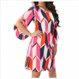 Preppy Beau And Arrow Split Sleeve Dress