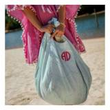 Monogrammed Hold Everything Mint Hobo Bag