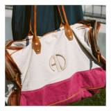Monogrammed Canvas Voyage Pink Duffle