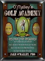 Personalized Golf Academy Pro Sign