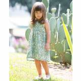 Olive Meadow Dress For Little Girls