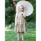 Gray Meadow Dress For Little Girls