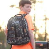 Personalized Woods Camouflage Backpack