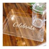 Monogrammed Large Acrylic Tray With Vinyl