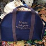 Monogrammed Navy Log Carrier