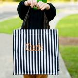 Personalized Black Stripe Halloween Tote
