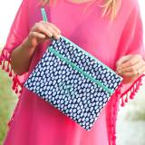 Personalized Tide Pool Zip Travel Pouch  . . .
