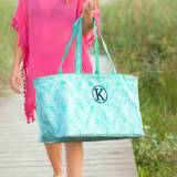 Personalized Poolside Palm Ultimate Tote