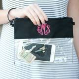 Personalized Clear Crossbody Black Trimmed  . . .