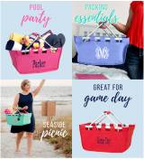 Monogrammed Market Shopping Totes