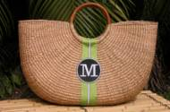 Queen Bea Monogrammed Extra Large Shorty Florida Basket