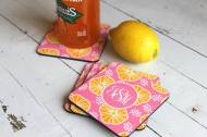 Monogrammed Personalized Coasters