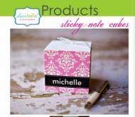 Perfect Office Gift- Monogrammed Sticky Note Cubes Perfect Office ...