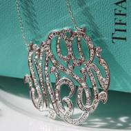 Monogrammed Pendant Set With CZ For A Diamond Look Without The ...