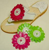 """Flower"" Sandal With Velcro Flowers - Available For ..."