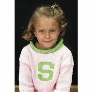 Personalized Girls Initial Sweater
