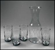 Personalized Set Of Five Carafe Juice Set
