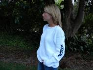 Ladies Monogrammed Sweater With Sleeve Monogram