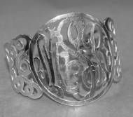 Filigree Monogrammed Sterling Silver Cuff - Designed By The Pink ...
