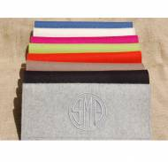 Queen Bea Monogrammed Felt Clutch Bag