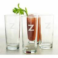 Monogrammed Set Of Four Cooler Glasses