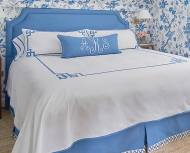 Monogrammed Bed Coverlet - Skirted Coverlets And Plain Coverlets