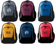 Monogrammed Backpack - 10 Colors - Largest Size - 12 X 18 X 6 ...